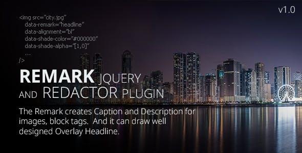 REMARK jQuery Plugin + Redactor Plugin