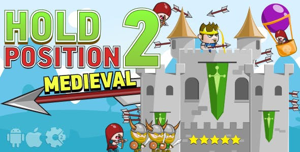 Hold Position 2: Medieval - HTML5 Game. Construct2 (.capx) + Cocoon ADS + Mobile Control