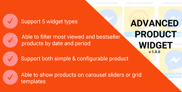Magento 2 Advanced Product Widget