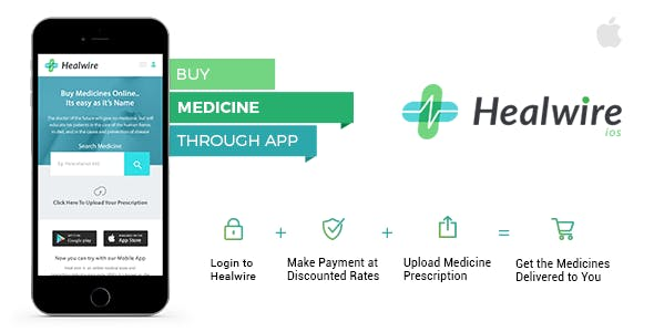 Healwire iOS - Online Medical Store