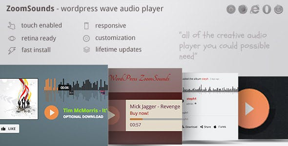 ZoomSounds - WordPress Cornerstone Waveform Audio Player