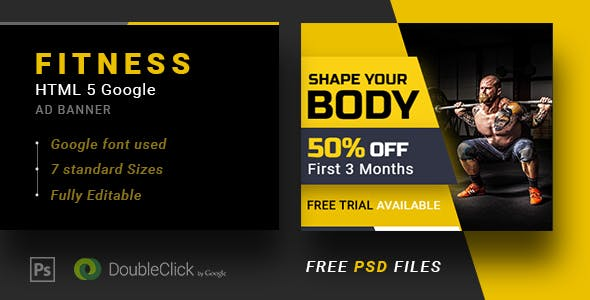 Fitness-Animated HTML 5 Banner 01