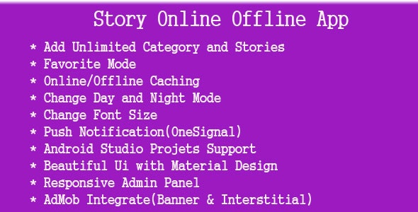 Story Online Offline App - CodeCanyon Item for Sale