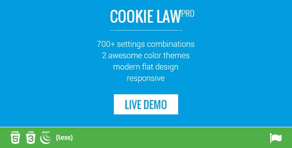 Responsive Cookie Law Consent Notification GDPR Compliance