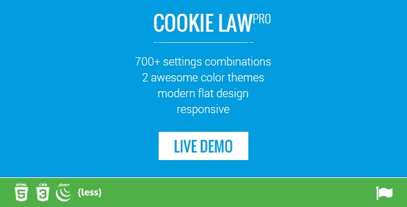 Responsive Cookie Law Consent Notification GDPR Compliance - CodeCanyon Item for Sale