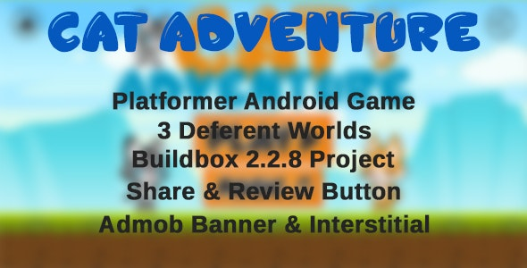 Cat Adventure - Android Platformer Game with Admob - CodeCanyon Item for Sale