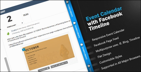 Event Calendar Facebook Timeline - CodeCanyon Item for Sale