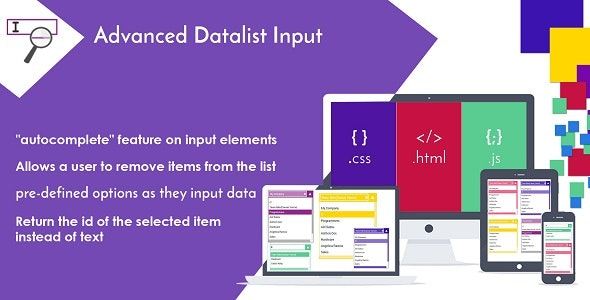 Advanced Datalist Input - Drop-down List with Autocomplete - CodeCanyon Item for Sale