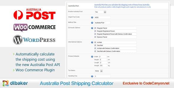 WooCommerce Australia Post Shipping Calculator