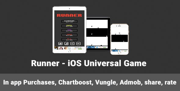 Runner - iOS Universal Game