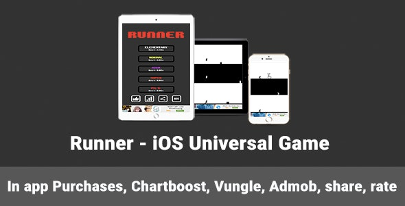 Runner - iOS Universal Game - CodeCanyon Item for Sale