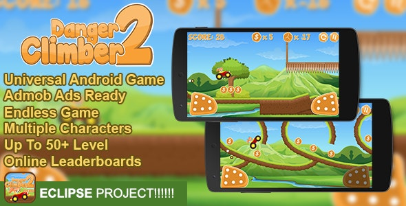 Danger Climber 2 + Admob + Online Leaderboard + Multiple Characters - CodeCanyon Item for Sale