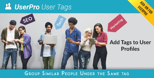 Tags add-on for UserPro