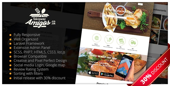 Multiple Restaurant System Takeaway Amigos - CodeCanyon Item for Sale