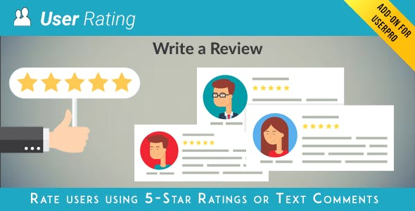 User Rating / Review Add on for UserPro