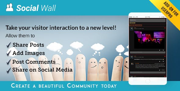 Social Wall Addon for UserPro