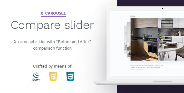 "X-carousel slider with ""Before and After"""