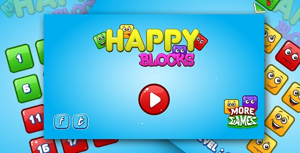Happy blocks - HTML5 logic game. Construct 2 + mobile - CodeCanyon Item for Sale