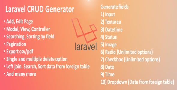 Laravel CRUD Generator
