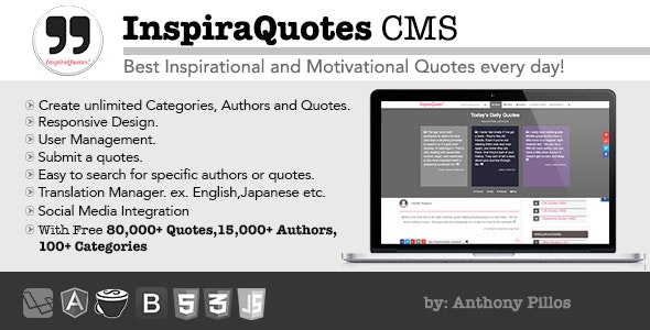 InspiraQuotes CMS - Inspirational Quotes Everyday by