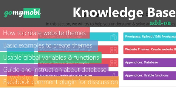 gomymobiBSB: Knowledge Base Add-on for Business - CodeCanyon Item for Sale