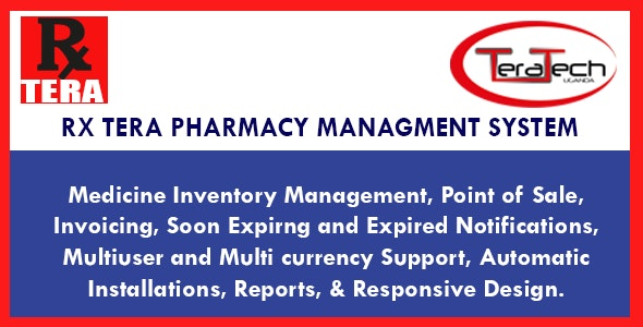 Rx Tera: Complete Pharmacy Management Application by TeraTech01