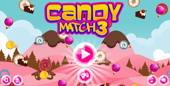 Candy Match-3 - HTML5 Game + Android + AdMob (Construct 3   Construct 2   Capx) - CodeCanyon Item for Sale