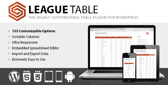 League Table by DAEXT | CodeCanyon