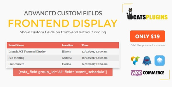 ACF Frontend Display - Show custom fields & Metakey on Frontend without Coding - CodeCanyon Item for Sale