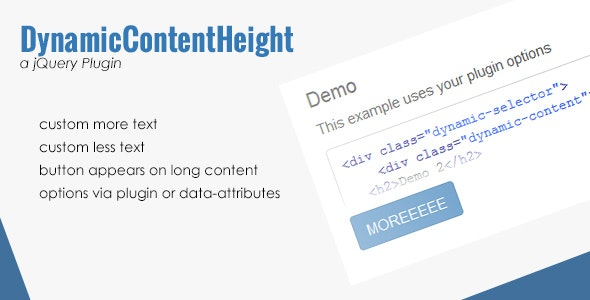 Dynamic Content Height - CodeCanyon Item for Sale