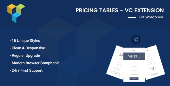 Pricing Tables - VC Addon - CodeCanyon Item for Sale