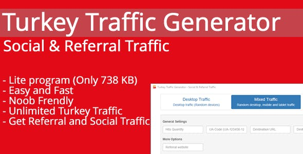 Turkey Traffic Generator - Social & Referral Traffic