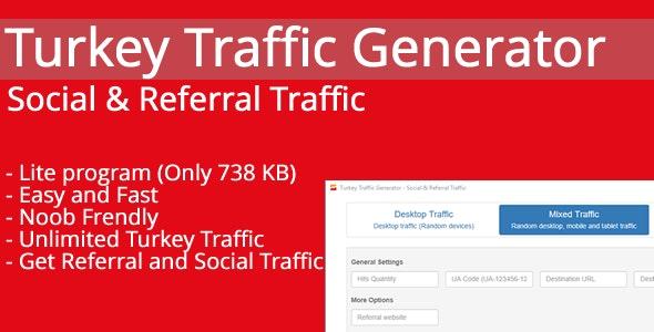 Turkey Traffic Generator - Social & Referral Traffic - CodeCanyon Item for Sale
