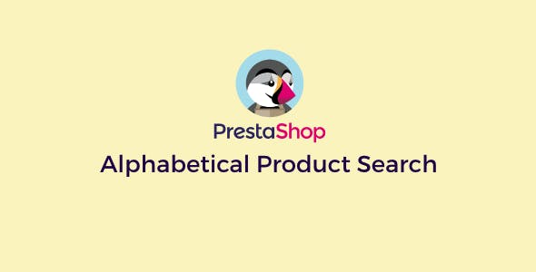 Prestashop Alphabetical Product Search