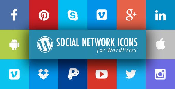 WordPress Social Network Icons Plugin with Layout Builder