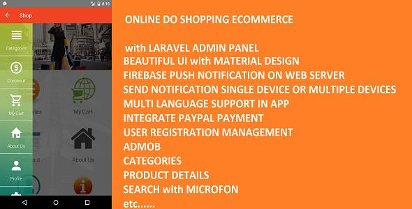 Online Do Shopping Ecommerce with Laravel Admin Panel