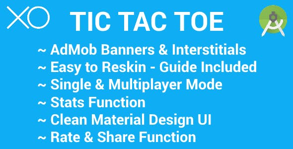 Tic Tac Toe with AdMob (Banners & Interstitials)