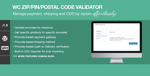 Zip/Pin/Postal Code Validator For WooCommerce