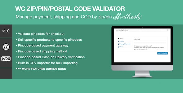 Zip/Pin/Postal Code Validator For WooCommerce - CodeCanyon Item for Sale