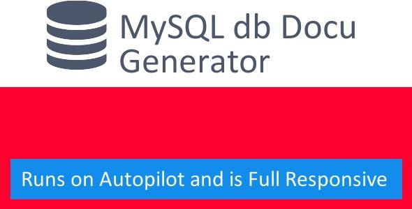 MySQL Documentation Generator - CodeCanyon Item for Sale