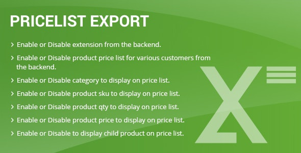 Price list export Magento2 - CodeCanyon Item for Sale