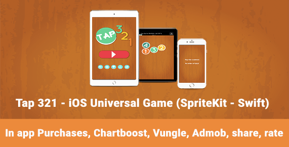 Tap 321 - iOS Universal Game (Swift) - CodeCanyon Item for Sale