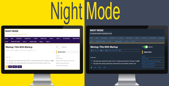 Night Mode for WordPress