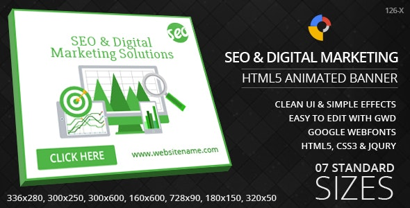 Seo & Marketing - HTML5 ad banners - CodeCanyon Item for Sale