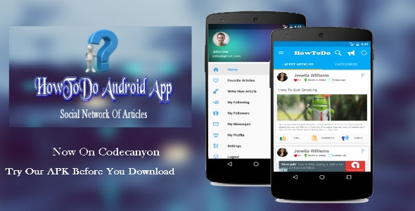 HowToDo Android App :- Social Network of Articles - CodeCanyon Item for Sale