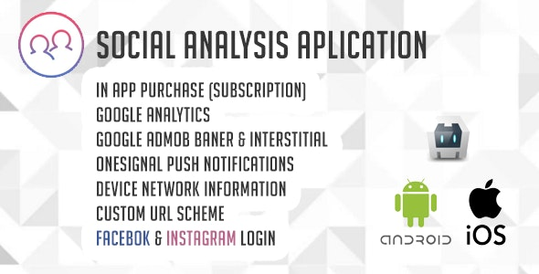 Social Analysis Application ( Instagram & Facebook ) - CodeCanyon Item for Sale