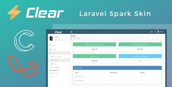 Clear - Laravel Spark Skin