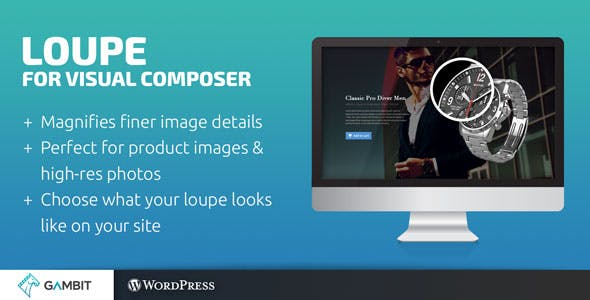 Loupe Image Magnifying Glass for WPBakery Page Builder (formerly Visual Composer)
