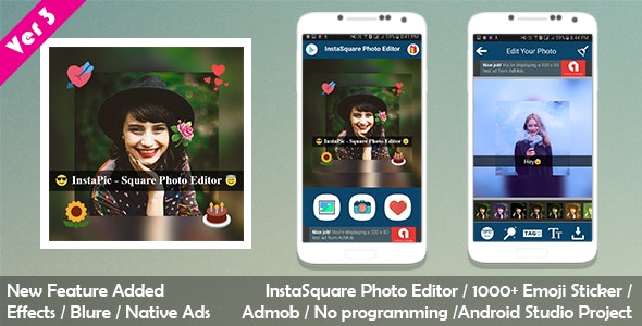 InstaSquare Photo Editor - CodeCanyon Item for Sale