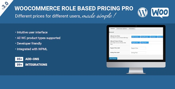 Role Based Pricing Pro For WooCommerce - CodeCanyon Item for Sale